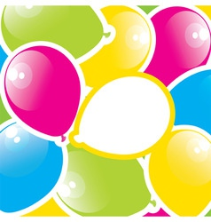 colorful paper balloons vector image