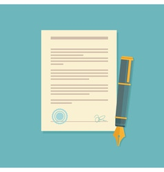 contract sign vector image