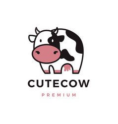 cute cow logo icon vector image