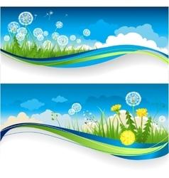 Dandelion banner vector