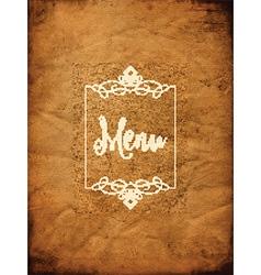 Decorative grunge menu background 1405 vector