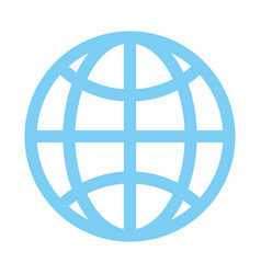 earth globe diagram communication icon image vector image