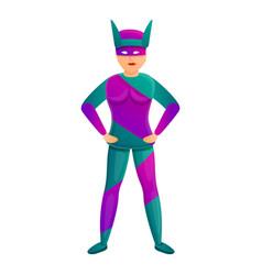 Famous superhero icon cartoon style vector