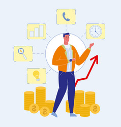 Financial advisor consultant vector