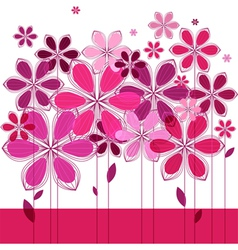 greeting card floral composition vector image