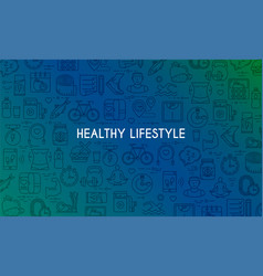Healthy lifestyle banner4 vector