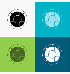 help life lifebuoy lifesaver preserver icon over vector image