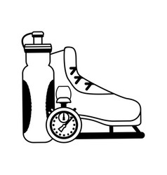 Ice skate icon image vector