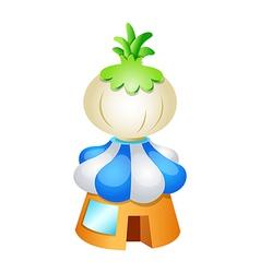 icon onion vector image