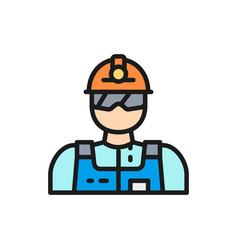 industrial worker engineer builder miner vector image