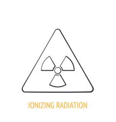 ionizing radiation hazard symbol outline icon vector image