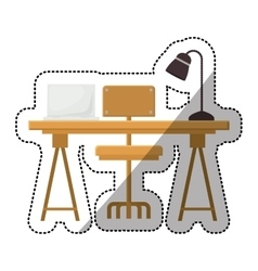 Isolated table with seat design vector