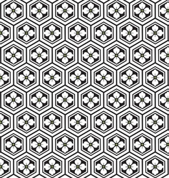 Japanese pattern with flower vector