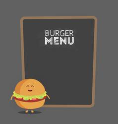 Kids restaurant menu cardboard character funny vector