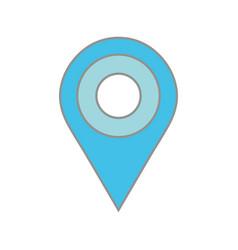 Line color location symbol to destination explore vector