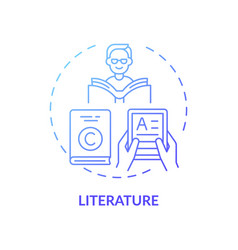 Literature concept icon vector