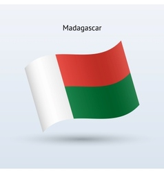 Madagascar flag waving form vector image