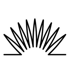 metal spring icon outline style vector image