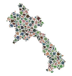 Mosaic map of laos of stones vector