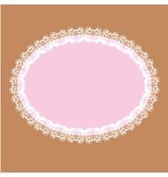 oval white lace-like frame vector image