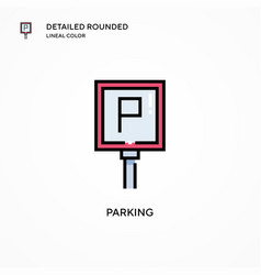 Parking icon modern vector