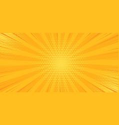 pop art yellow comics book cartoon magazine cover vector image