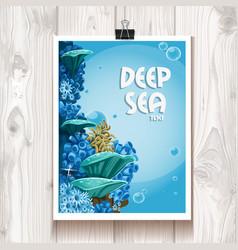 Poster with deep sea anemones in binder vector