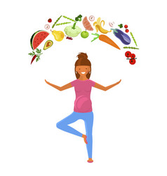 pregnant woman diet vector image