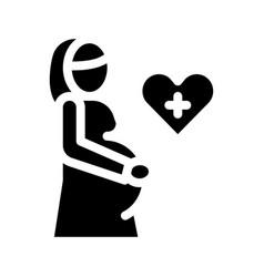 Pregnant woman icon glyph vector