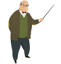 Professor vector image