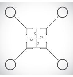 Puzzle timeline design template vector image
