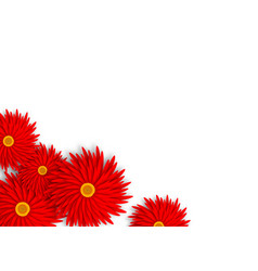 red paper cut flower background copy space vector image