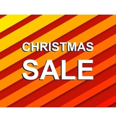 Red striped sale poster with CHRISTMAS SALE text vector