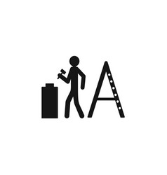 repair man worker icon isolated on white vector image