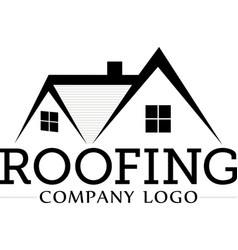 roofing company logo vector image