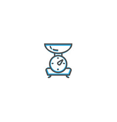 scale icon design gastronomy icon vector image