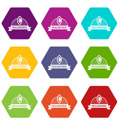 scales icons set 9 vector image