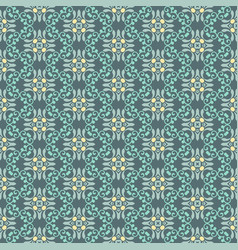 Seamless floral ornament pattern vector