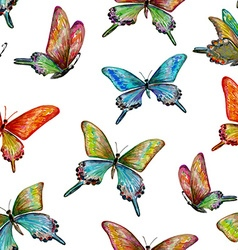 seamless texture with cute butterflies vector image