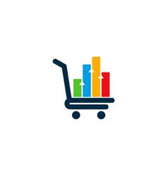 shop statistic logo icon design vector image