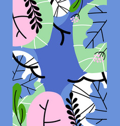 simple flat style abstract foliage background vector image