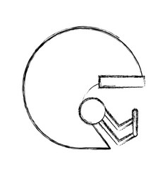 sketch draw football helmet cartoon vector image