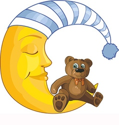 Sleeping moon design vector