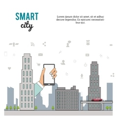 Smart city design vector