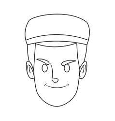 Smiling man portrait male character people vector