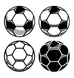 soccer ball set 001 vector image