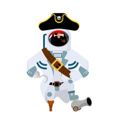 Space pirate filibuster spaceman buccaneer vector