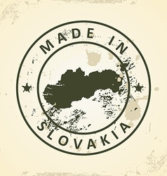 Stamp with map of Slovakia vector image