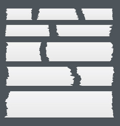Sticky tape pieces of different size vector
