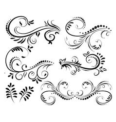 Swirl elements for design vector